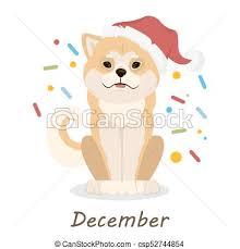 Shiba Dogs Calendar Shiba Inu Dogs Calendar December Month With