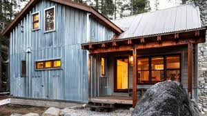 country homes made from galvanized tin