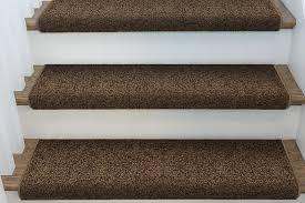 bullnose carpet stair treads brown