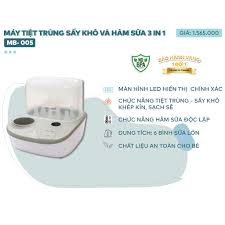 Máy tiệt trùng sấy khô và hâm nóng bình sữa 3 trong 1 bearo hb-321ea - Sắp  xếp theo liên quan sản phẩm