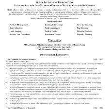 senior executive resume resume portfolio management resume
