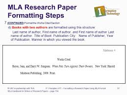 Mla Format Research Paper Multiple Authors