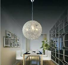 round ball chandelier lights to modern crystal photo sparkling floating pendant