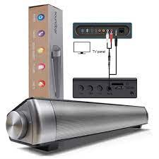 LP 08 Bluetooth Suara Bar Subwoof Kolom Rumah KTV Speaker Enhanced Remote  Control TV Bt Soundbar Speaker Kartu Plug altavoz|Soundbar