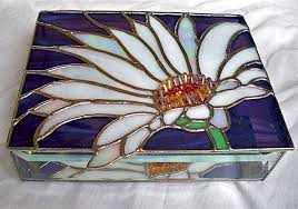 Stained Glass Jewelry Box Designs Stained Glass Jewelry Boxes Flower Bird Designs