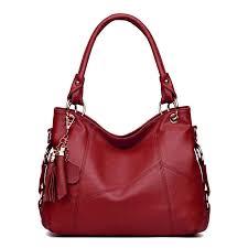 large leather tote bag tassel hobo handbags