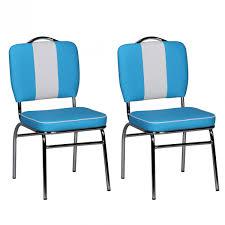 2er Set Esszimmerstühle American Diner Stühle 50er Jahre Retro Möbel