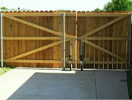 Unique Wood Fence Gate Plans Driveway Wheels Big In Decor