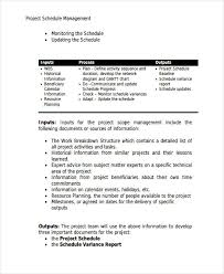 Project Schedule Management Plan Template 57 Management Plan Examples Pdf Word Pages Examples