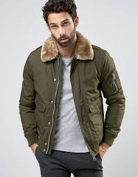 schott air er jacket faux fur collar exclusive khaki men schott nyc ac er jacket new york