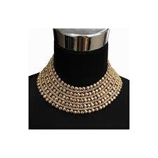 Uken Metal Beads Chunky Maxi Necklaces For Women 2018