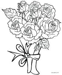 coloring pages flowers roses