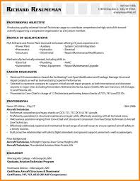 resume aircraft mechanic