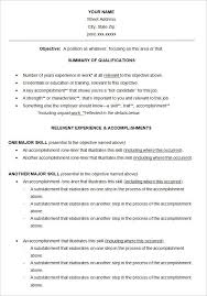 Another Name For Resume 10 Functional Resume Templates Free Printable Word Pdf