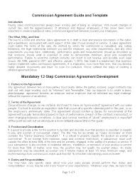 Sales Commission Letter Template Simple Sales Agreement Template