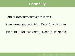 Letter Greetings Extraordinary How To Address A Woman In A Business Letter 48 Steps