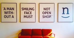 Image result for man without smiling face should not open shop