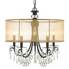 exceptional uttermost 5 light bronze chandelier hampton bay