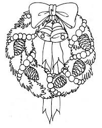 Small Picture A Sweet Christmas Wreath for Hanging Decor Coloring Page