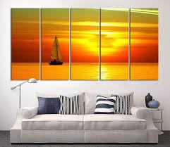 sunset on ocean and boat wall art sun on ocean canvas print extra large on extra large ocean wall art with sunset on ocean and boat wall art sun on ocean canvas print extra