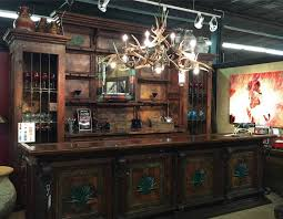 mesquite copper bar with agave