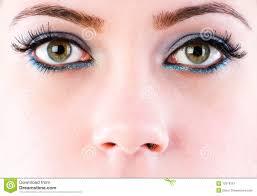 close up of face with makeup
