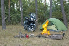 camping in the woods. Delighful Woods Camping In The Woods With A Tent And Motorcycle To In The Woods