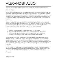 Sample Of Application Letter For Position Bus Driver Cover Letter Examples For Transportation Livecareer
