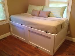 diy daybed with underbed cabinet storage