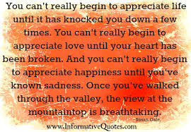 You Can't Really Begin To Appreciate Love Until Your Heart Has Been Inspiration Pleasing Heart Love Quotes