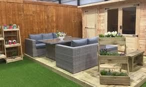 rattan garden furniture showroom