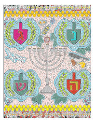 Markers nice clean appearance but they can bleed through paper and are harder to blend. Free Download Chanukah Gel Pen Coloring Page Between Carpools