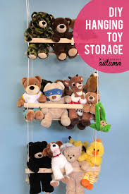 organize your stuffed animals with this easy to build hanging toy storage swing