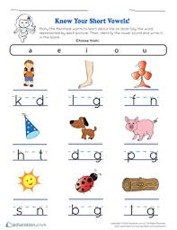 The study of short vowel sounds is vital to students' early reading and writing skills. Short Vowels Printable Worksheets Education Com