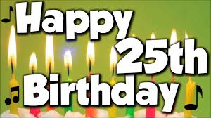 Image result for 25th birthday