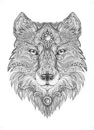 Coloring For Adults Wolf Coloring Pages Adult Coloring Pages