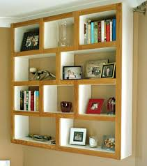 interior modern geometric square wall mounted shelves for