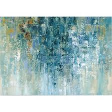 Icanvas i Love The Rain Painting Print On Wrapped Canvas Wayfair Abstract Wall Art Youll Love Wayfair