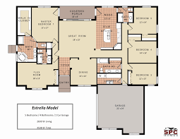 open floor plans one story fresh house plan 5 bedroom e within