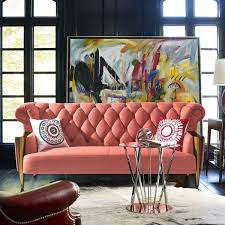 yellow upholstered chesterfield sofa