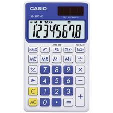casio sl vc standard function calculator blue