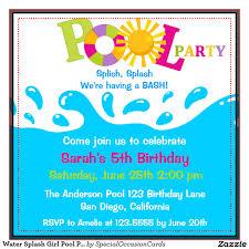 pool party birthday invitations com pool party birthday invitations as well as having up to date birthday alluring invitation templates printable 5