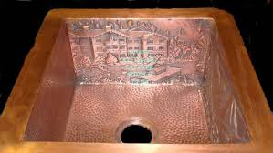 hammered copper kitchen sink: copper kitchen sink hammered copper sink