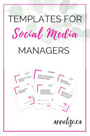Social Media Proposal Template Social Media Manager Template Package Social Biz Bundle