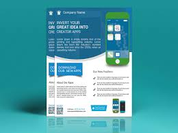 Design Flyers On Android Android Mobile Apps Promotion Flyer On Student Show