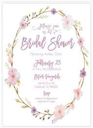 wedding shower images. A Pink And Purple Floral Bridal Shower Invite Wedding Images