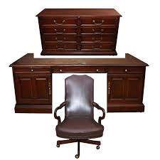 Old office chair School Office Hickory Leather Company Executive Desk File Cabinet And Old Hickory Leather Office Chair Xtcshopco Hickory Leather Company Executive Desk File Cabinet And Old Hickory