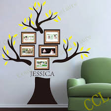Family Tree Modern Design Us 33 83 10 Off Large Family Tree Wall Decal Personalized With Family Name 190x180cm Family Tree Photo Frame Wall Sticker Modern Home Decor In Wall