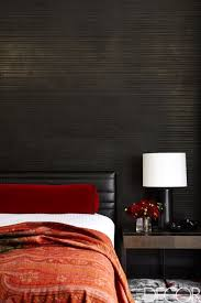 Red and black furniture Office Homedit 35 Black Room Decorating Ideas How To Use Black Wall Paint Decor