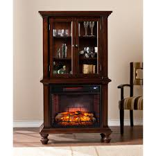 blexham espresso infrared electric fireplace cabinet